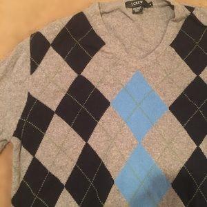 J. Crew Argyle Sweater, Size Small